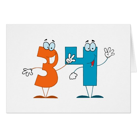 Happy Number 34 Card