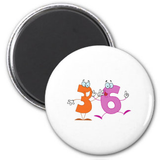 Happy Number 36 Magnet