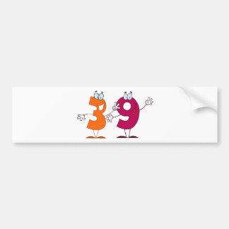 Happy Number 39 Bumper Sticker