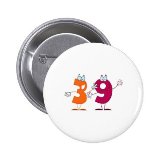 Happy Number 39 Pinback Button