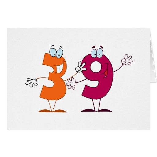 Happy Number 39 Greeting Cards Zazzle