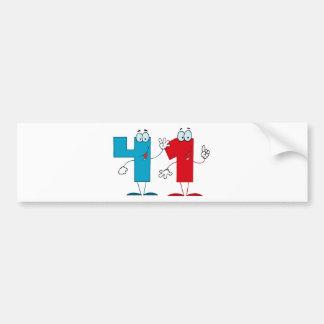 Happy Number 41 Bumper Sticker