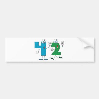 Happy Number 42 Bumper Sticker