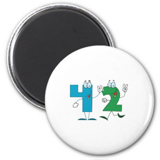 Happy Number 42 Magnet