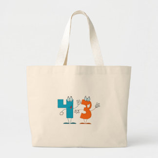 Happy Number 43 Canvas Bag