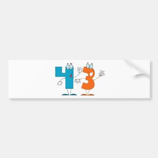 Happy Number 43 Bumper Sticker
