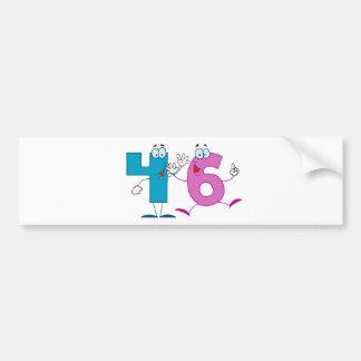 Happy Number 46 Bumper Sticker