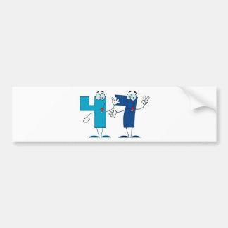 Happy Number 47 Bumper Sticker