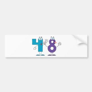 Happy Number 48 Bumper Sticker