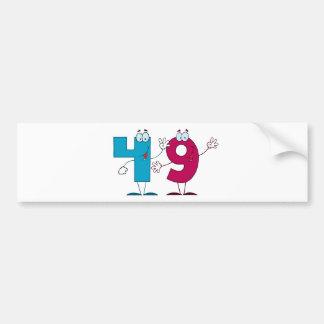Happy Number 49 Bumper Sticker