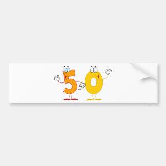 Happy Number 50 Bumper Sticker