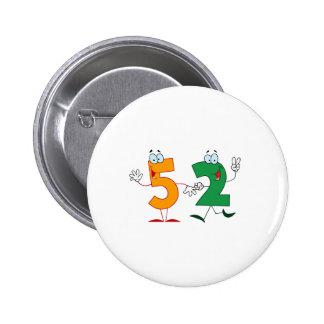 Happy Number 52 2 Inch Round Button