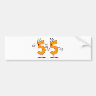 Happy Number 55 Bumper Sticker