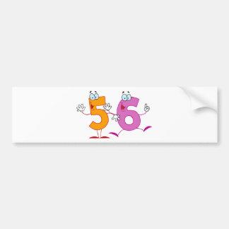 Happy Number 56 Bumper Sticker
