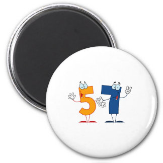 Happy Number 57 Magnet