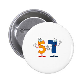 Happy Number 57 Pinback Button