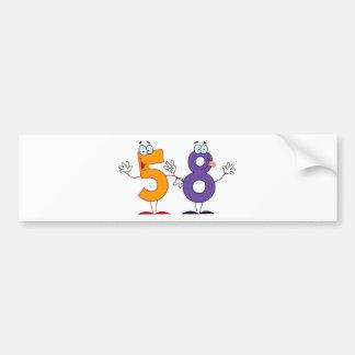 Happy Number 58 Bumper Sticker