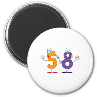 Happy Number 58 Magnet