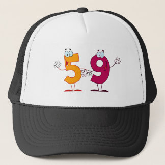 Happy Number 59 Trucker Hat