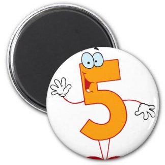 Happy Number 5 Magnet