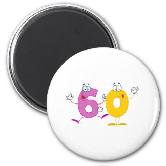 Happy Number 60 2 Inch Round Magnet