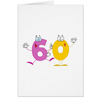 Happy Number 60 Greeting Card
