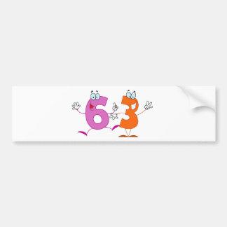 Happy Number 63 Bumper Sticker