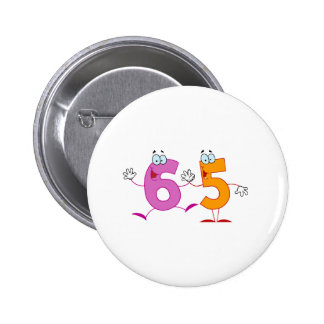 Happy Number 65 2 Inch Round Button
