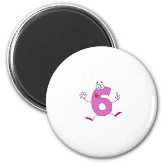 Happy Number 6 Magnet