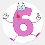 Happy Number 6 Sticker