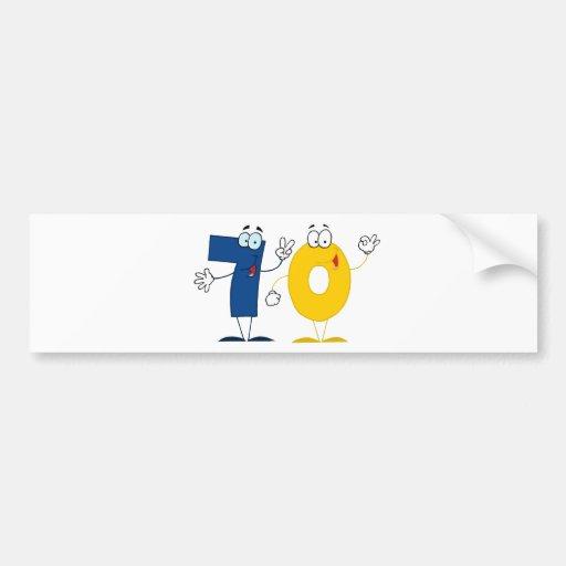 Happy Number 70 Bumper Sticker