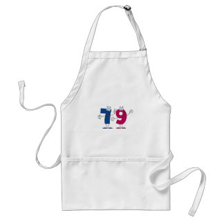 Happy Number 79 Adult Apron