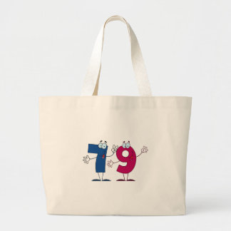 Happy Number 79 Tote Bags