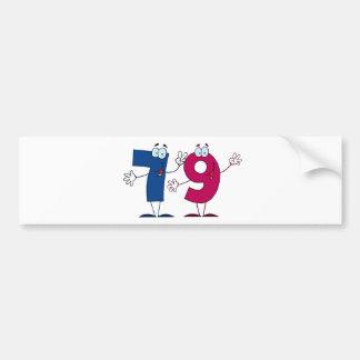 Happy Number 79 Bumper Sticker
