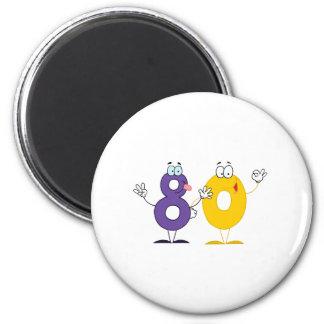 Happy Number 80 Magnet