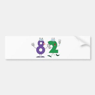 Happy Number 82 Bumper Sticker