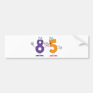 Happy Number 85 Bumper Sticker