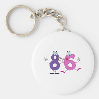 Happy Number 86 Keychain