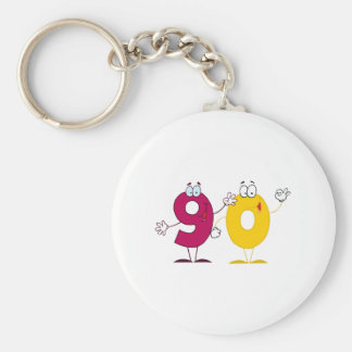 Happy Number 90 Key Chain