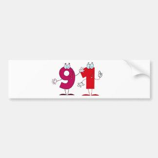 Happy Number 91 Bumper Sticker