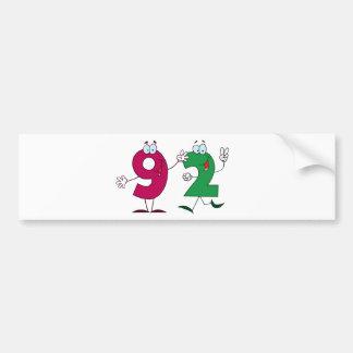 Happy Number 92 Bumper Sticker