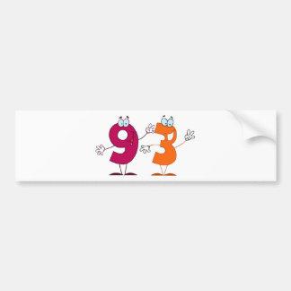 Happy Number 93 Bumper Sticker
