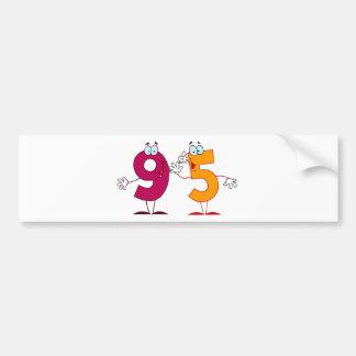 Happy Number 95 Bumper Sticker