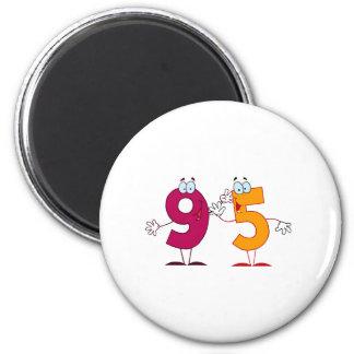 Happy Number 95 Magnet