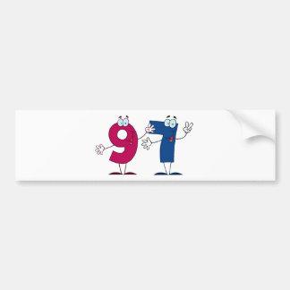 Happy Number 97 Bumper Sticker