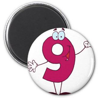 Happy Number 9 Magnet