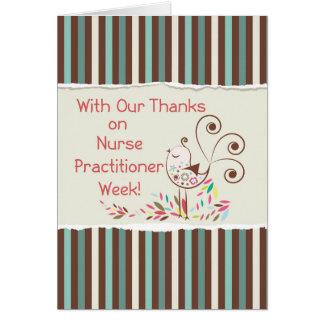 Happy Nurse Practitioner Week, From Group, Bird Card