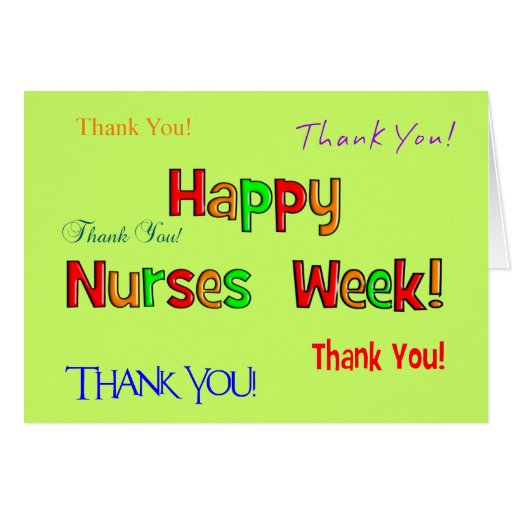 Happy Nurse Week Greeting Card | Zazzle