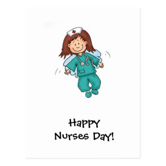 Happy Nurses Day - Angel in Disguise Postcard