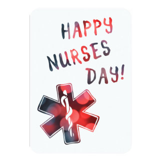happy nurses day BOKEH Card